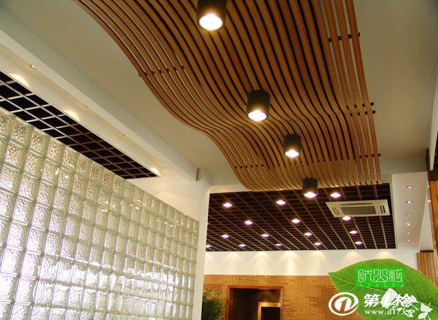 生态木azl40*100天花,创意吊顶材料,pvc木塑型材.华东