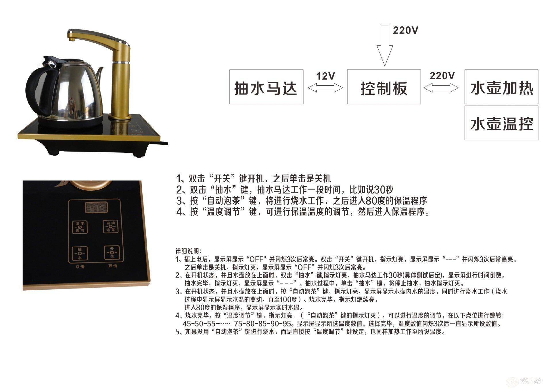 产品库 电子元器件 线路板/电路板 触摸按键自动加抽水保温电茶壶程序