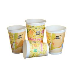 一次性豆浆纸杯现磨豆浆杯子定制批发