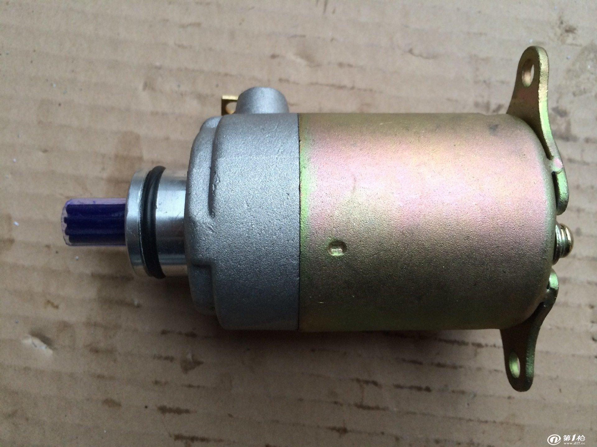 厂家直销 通用踏板车电动机,燃油助力车,电启动电机gy6-125