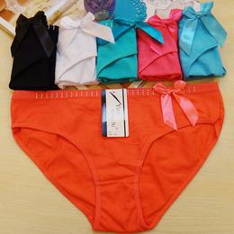 厂家直销全棉女士三角裤 性感中腰女式内裤 外贸货源女内裤批发