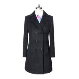 黑色顺毛保暖羊绒呢子大衣 毛呢外套支持定做