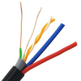 室外双层护套纯铜网线加RVV2根无氧铜电源监控电线厂家直销