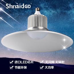 LED工矿灯厂房车间照明吊灯E27螺口50W工地庭院泛光灯