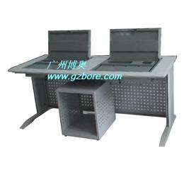 博奥BR043六边形翻转电脑桌 济宁会议室电脑翻转桌