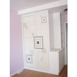 和祥家具欧式推拉门衣柜板式衣柜