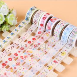 供应和纸胶带  DIY胶带 礼品装饰胶带 厂家订制