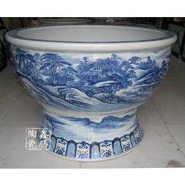 供应手绘陶瓷大缸 直径1.5米陶瓷大缸 鑫腾陶瓷直销