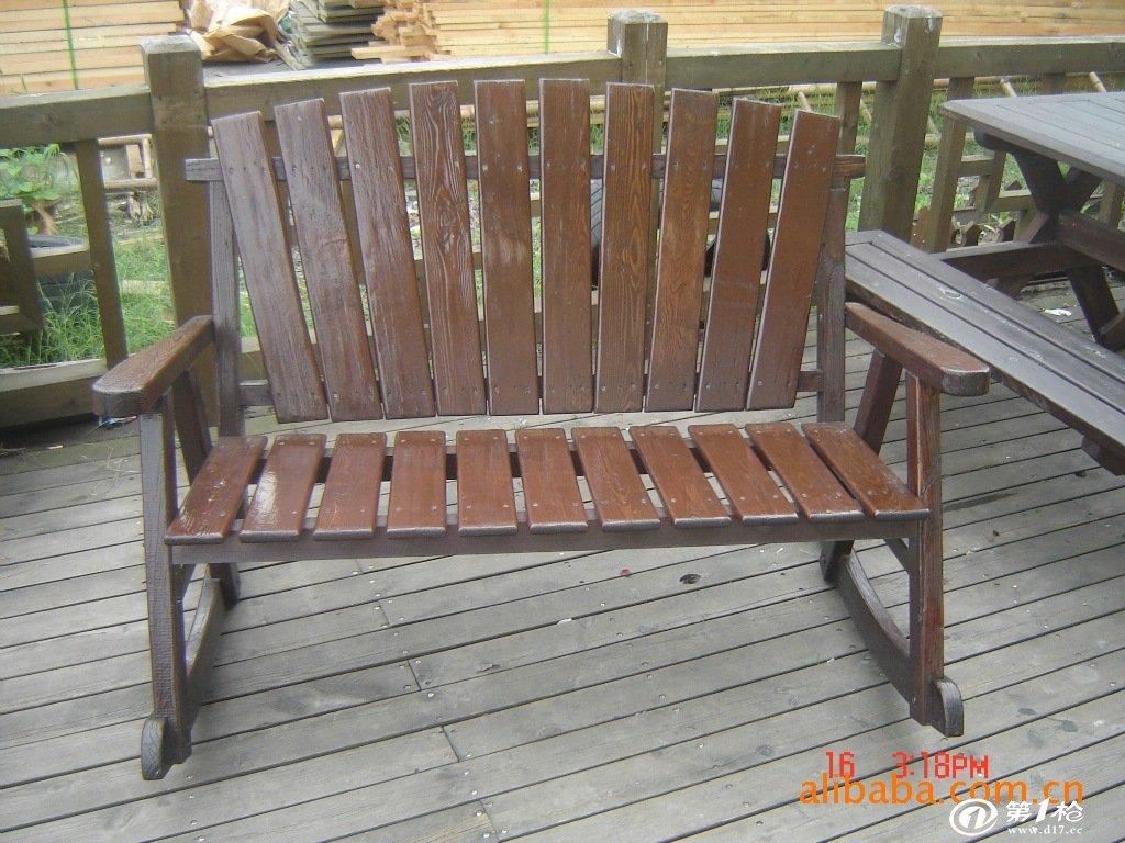 供应防腐木摇椅 樟子松摇椅 炭化木摇椅 家具 户外家具 户外椅子