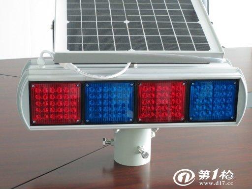 太阳能交通警示灯 led爆闪灯 道路频闪灯 四组两面