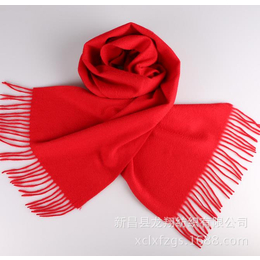 红围巾批发定制 新款羊绒围巾 聚会活动年会围巾