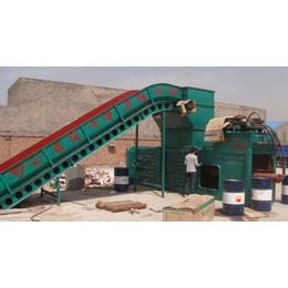 哈密协力废纸箱打包机时产4-7包卧式废纸打包机每包1吨多