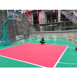 全众体育悬浮式拼装地板 篮球场运动悬浮地板  悬浮地垫缩略图