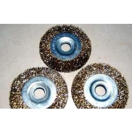 供应正品平型钢丝轮 铁质孔平型75钢丝轮