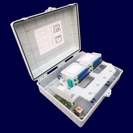 插片式32芯光纤分线盒 室外明装塑料分线箱