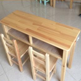 实木双人课桌椅学校课桌缩略图