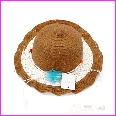 现货热卖〕纯手工草编儿童帽子 超可爱亲子帽 dzh-937533