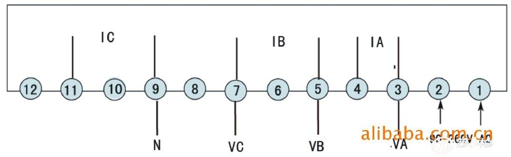 三相电压电流表接线图
