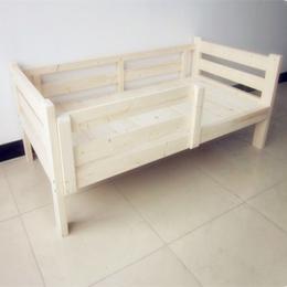 实木床儿童实木床带护栏童床实木松木儿童床