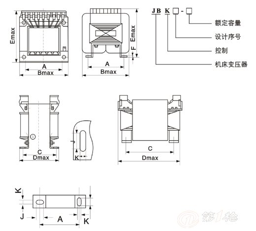 上海茗杨电气专注变压器生产jbk_2500va机床变压器