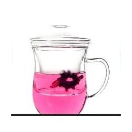 高硼材质耐热<em>玻璃</em><em>杯子</em> 三件式带过滤透明水杯<em>玻璃杯</em>批发