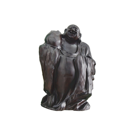 古沉木雕刻艺术JXLYQ00030 笑佛
