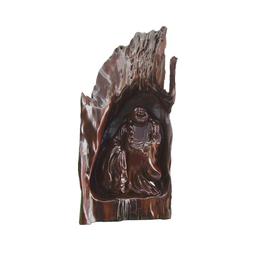 古沉木雕刻艺术JXLYQ00033 洞中弥勒