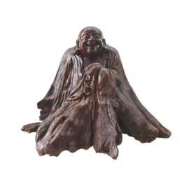 古沉木雕刻艺术JXLYQ00047 笑佛