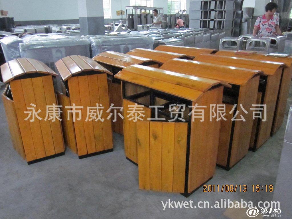供应花盆/垃圾桶/垃圾箱/钢木垃圾桶,户外垃圾桶,环保