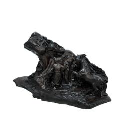 古沉木雕刻艺术JXLYQ00065 伯乐相马缩略图