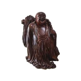 古沉木雕刻艺术JXLYQ00072 笑佛