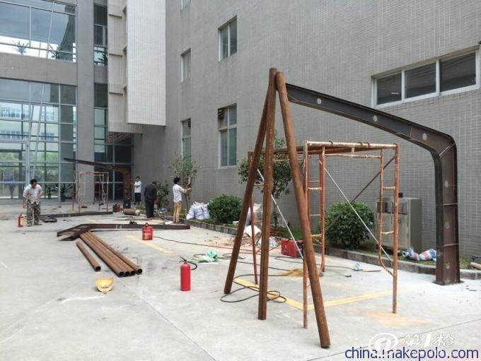 供应广东正耀钢结构雨棚钢梁/金属预埋件加工生产厂家