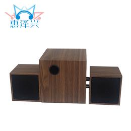 木质小音响工厂定制 家用迷你笔记本多媒体2.1音箱
