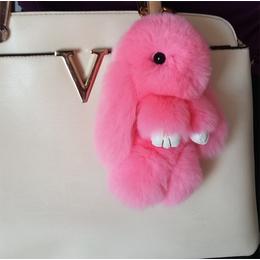 批发小号獭兔毛装死兔挂件正版兔子挂件包包挂件萌萌兔