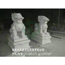 门口石雕麒麟 白麻石麒麟 寺庙麒麟石雕