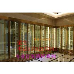 不锈钢古铜色恒温酒柜 供应宾馆 酒店 办公室 佛山伟天盛