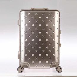 2017年新款骏仕铝框密码箱拉杆箱万向轮旅行箱缩略图