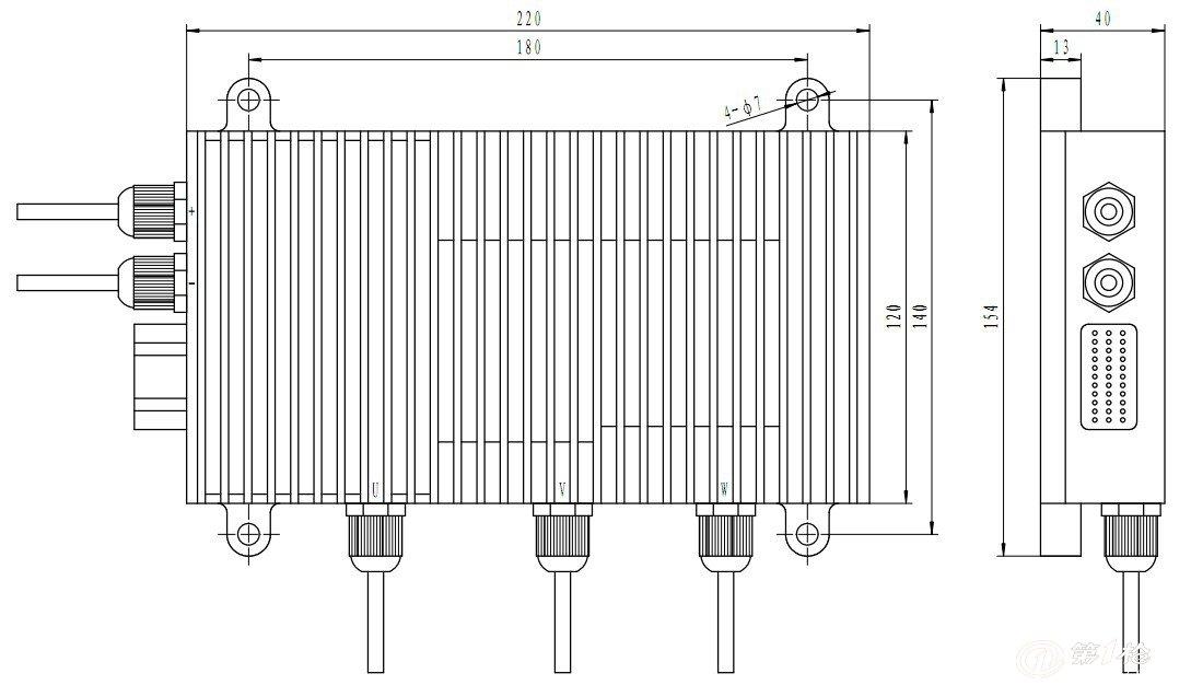 供应优质zks008m大功率直流无刷电机控制器
