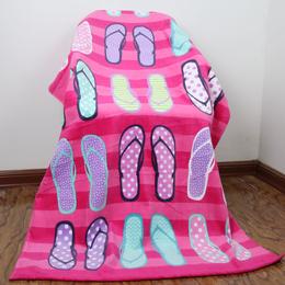 新款热销纯棉沙滩巾 割绒活性印花 外贸沙滩浴巾加工定制