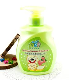 安安皮特儿童滋润洗发沐浴二合一500g 草莓香味
