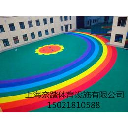 宝山幼儿园塑胶地坪承接价格