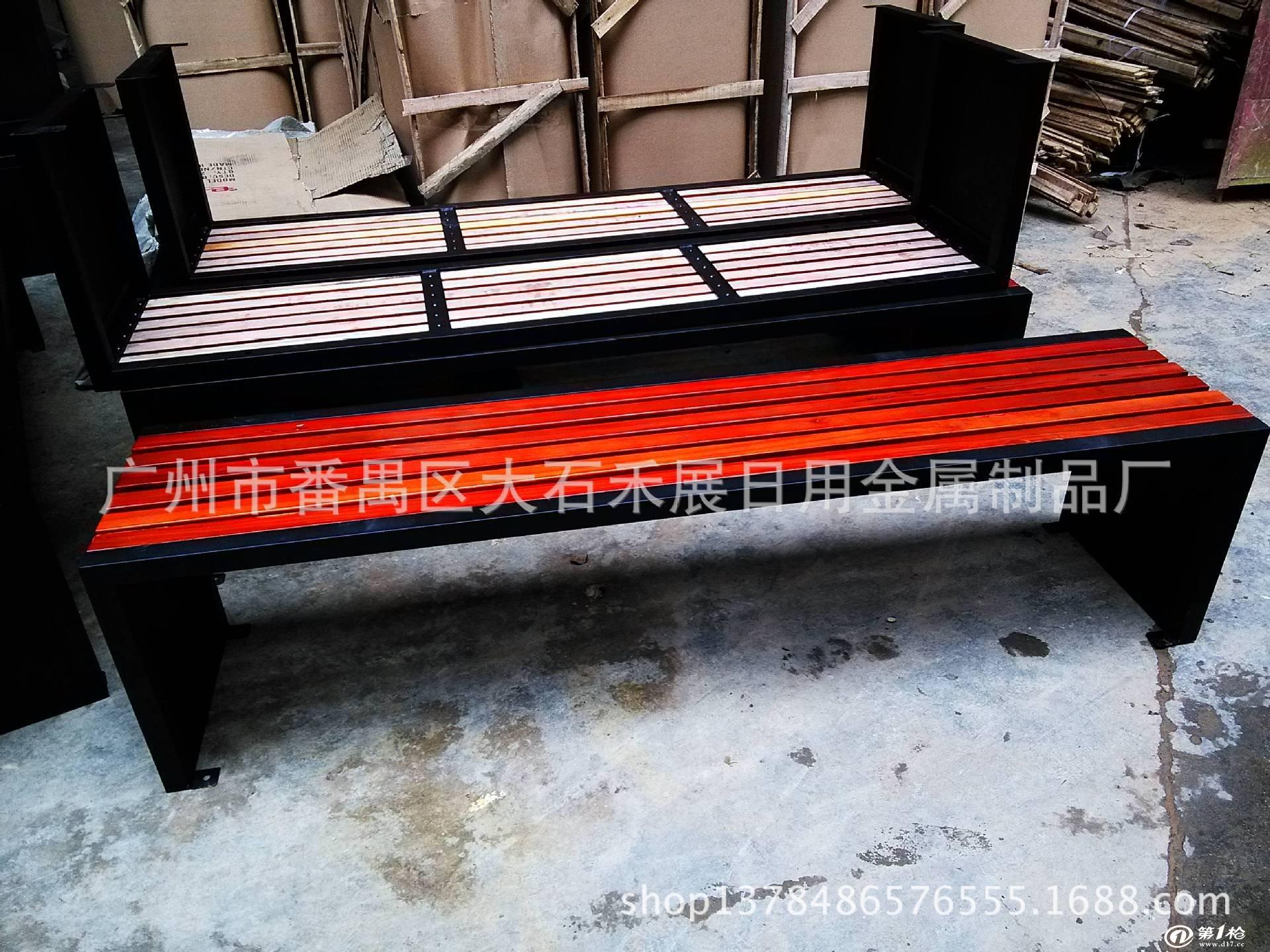 户外家具批发铸铁户外椅/不带靠背户外椅/铁质公园长椅