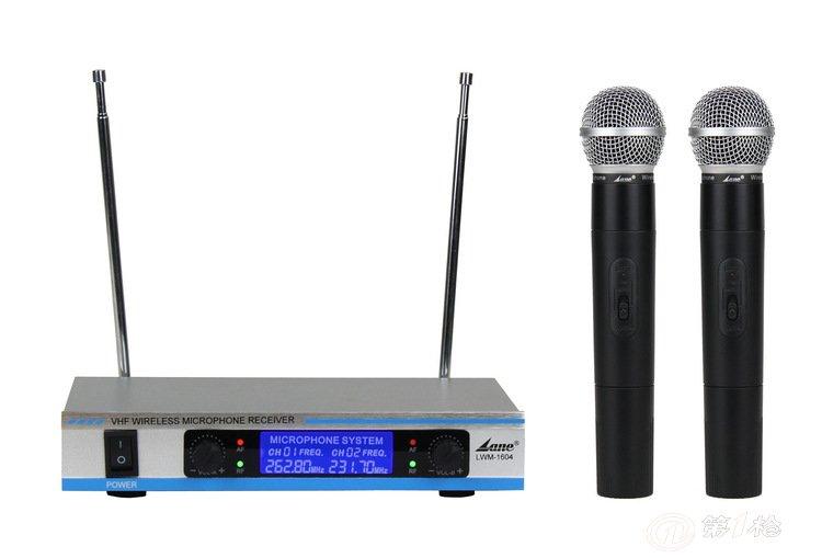 热销供应 lwm-1604系列vhf无线麦克风 带显屏v段无线话筒