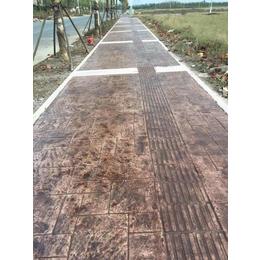 湄洲湖彩色混凝土压花地坪材料 压模地坪成本 莆田压印道路施工
