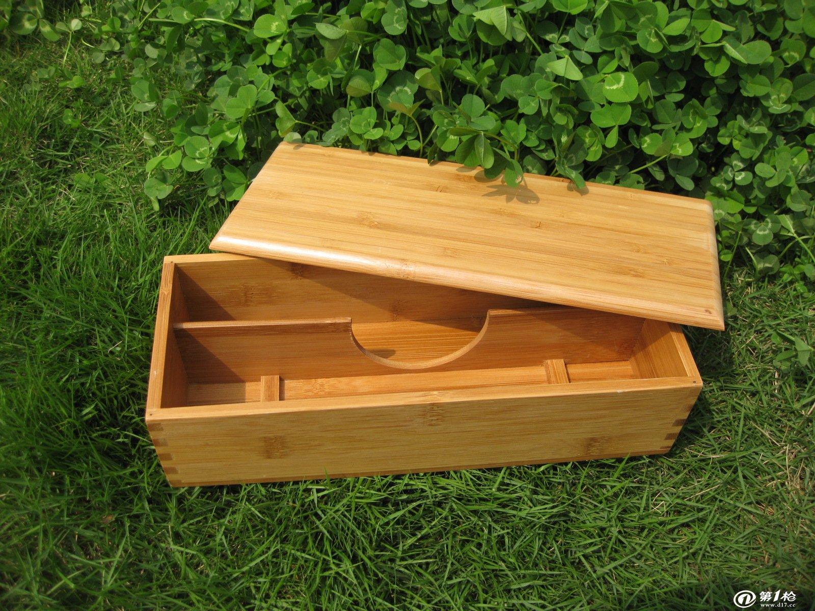 竹制筷子盒 日式韩式两格带盖筷子盒 外贸出口优质竹筷盒 可定做图片