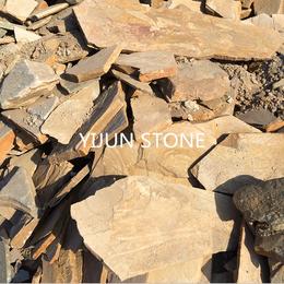 厂家直销板岩乱形板价格碎拼铺地片石散石