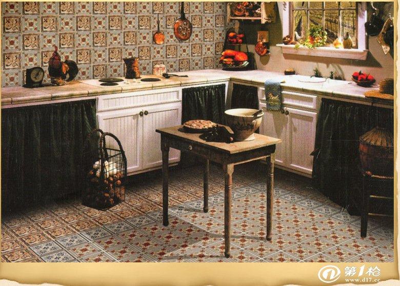 莱立雅仿古角花砖 西班牙小花砖欧式艺术地砖_陶瓷铺