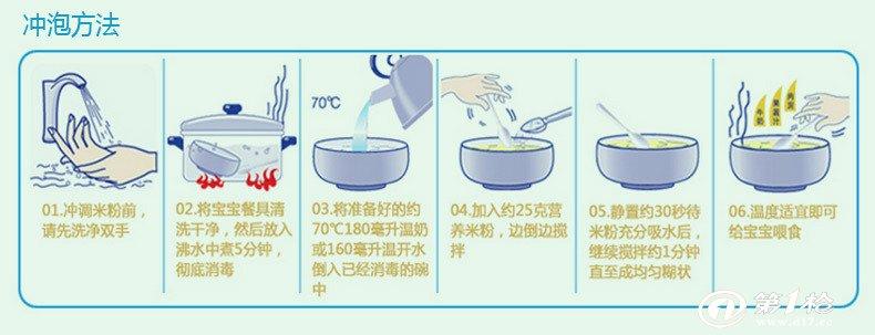 法国慧茵婴儿1段松仁薏米金胚芽奶米粉 宝宝辅食 进口
