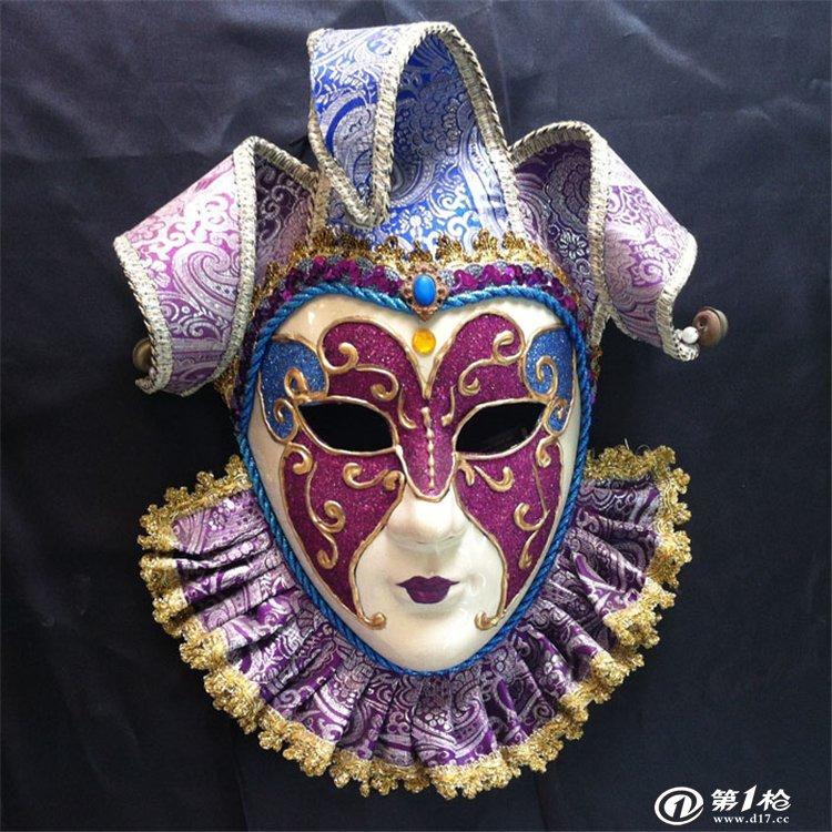深圳面具定制万圣节道具威尼斯风格手绘面具
