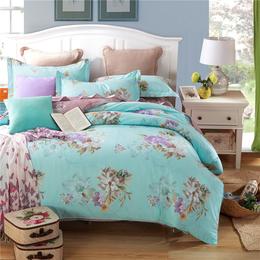 厂家直销 全棉冬季加厚纯棉磨毛四件套活性印花床上用品特价批发